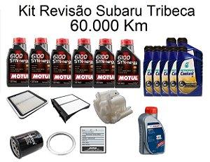 Kit Revisão Subaru Tribeca 60 Mil Km Com Óleo Motul 6100 Syn-nergy 5W30 Sintético