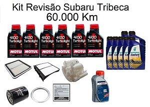 Kit Revisão Subaru Tribeca 60 Mil Km Com Óleo Motul 4100 Trbolight 10W40 Semi-Sintético