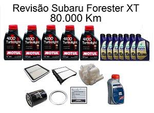 Kit Revisão Subaru Forester 2.0 2.5 XT 80 Mil Km Com Óleo Motul 4100 Turbolight 10W40 Semi-Sintético