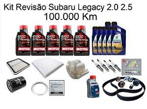 Kit Revisão Subaru Legacy 2.0 2.5 100 Mil Km Com Óleo Motul 6100 Syn-nergy 5W30 Sintético