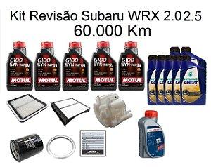 Kit Revisão Subaru Wrx 2.0 2.5 60 Mil Km Com Óleo Motul 6100 Syn-nergy 5W30 Sintético