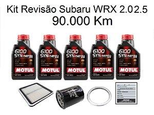 Kit Revisão Subaru Wrx 2.0 2.5 90 Mil Km Com Óleo Motul 6100 Syn-nergy 5W30 Sintético