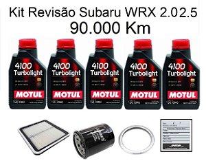 Revisão Subaru Wrx 2.0 2.5 90 Mil Km Com Óleo Motul 4100 Turbolight 10W40 Semi-Sintético