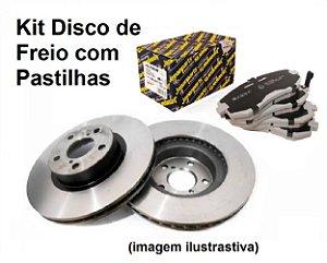 Jogo De Pastilhas com Disco De Freio Dianteiro Subaru Forester 2.0 Lx Xs 2004 a 2011