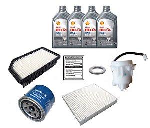 Kit De Filtros Kia Soul 1.6 Gasolina Com Óleo Shell 5w30 Sintético