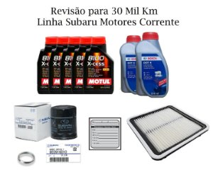 Kit Filtros Revisão Subaru Forester S 2.0 30 Mil Km Com Óleo Motul 8100