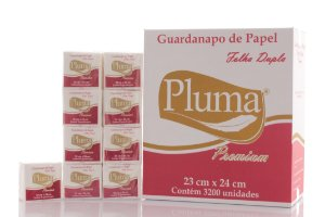 Guardanapos de Papel Folha Dupla PLUMA