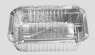 Bandeja de Aluminio Wyda D12FS Tampa Pet 220ML