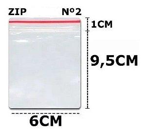 saco Zip 6x10 C/100un N°2