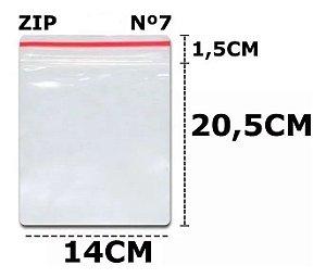 SACO ZIP N 7 14X20CM C/100 UN