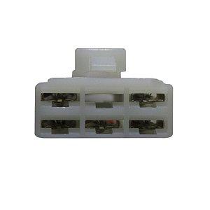 Conector Regulador Retificador de Voltagem YBR 150 Factor 16-17 Chiaratto
