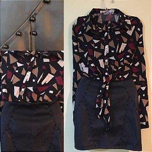 Conjunto Saia e blusa