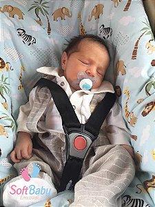 Capa para Bebê Conforto - Azul marinho e Safari