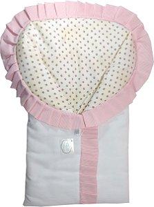 Porta Bebê  -  Tema Floral Rosa