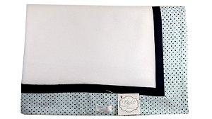 Cobertor Soft com Barrado - Tema Bolinhas Divertidas