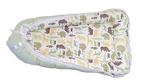 Ninho de Berço para Bebê - Tema Safari + Travesseiro