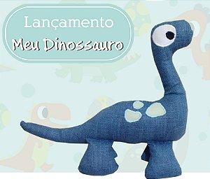 Dinossauro Azul em tecido 100% algodão