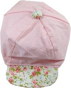 Boné para Bebê -  Rosa Floral