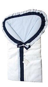 Porta Bebê  -  Azul com Gravata