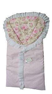 Porta Bebê com RENDA floral rosa