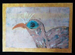 Cartão Artesanal - Seriema - Batik