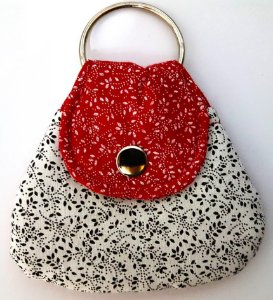 Mini-bolsinha porta-chaves#1