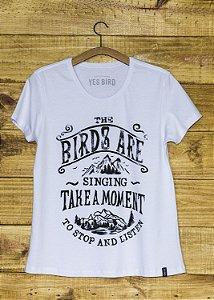 T-Shirt Feminina Take a Moment - Branco
