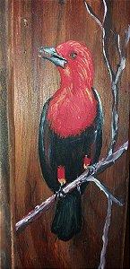Taco de madeira - Cardeal-do-banhado