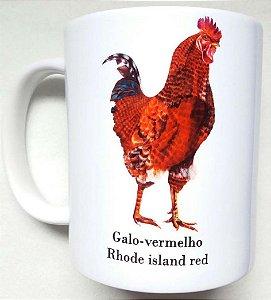 Caneca de Porcelana - Galo Vermelho