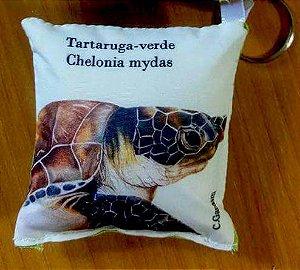 Chaveiro de tecido Tartaruga-Verde