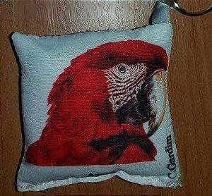 Chaveiro de tecido Arara-Vermelha