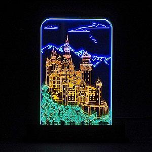 Luminária Acrílico e Led Castelo