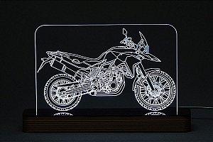 Luminária Acrílico e Led Moto Trail
