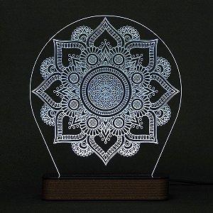 Luminária Acrílico e Led Mandala modelo F
