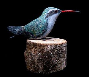 Miniatura madeira Besourinho-do-Bico-Vermelho