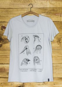 Camiseta Aves e Biomas - Cinza - Yes Bird