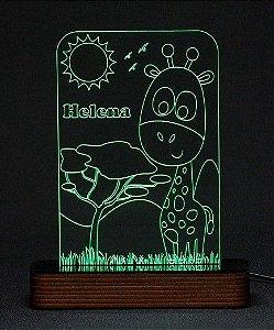 Luminária Acrílico e Led Girafa - Modelo Infantil
