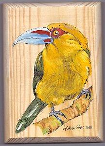 Arte em Madeira - Araçari-banana
