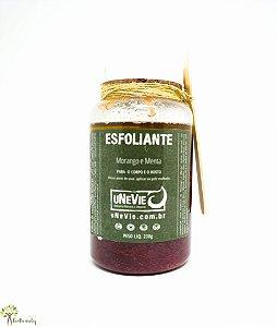 Esfoliante Natural e Vegano com Morango e Menta 200g Unevie