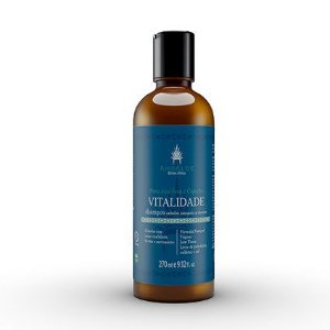 Shampoo Natural e Vegano Cabelos Normais a Oleosos Vitalidade 270ml AhoAloe