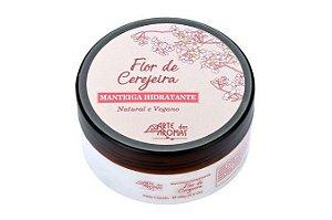 Manteiga Hidratante Corporal Orgânica e Vegana Flor de Cerejeira 196g Arte dos Aromas
