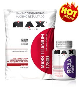 Combo Mass Max: Mass titanium 3kg + Bcaa 60 cápsulas