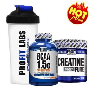 Kit Profit Bcaa 60 cápsulas + Creat 90g + Coqueteleira