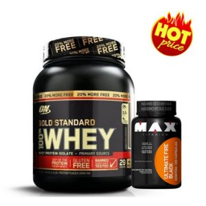 PROMO Whey Gold Standard ON 1,1kg Optimum Nutrition + Termogênico Fire Black 120caps