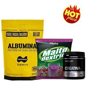 Combo Albumina 500g + Malto 1kg + Creatina Probiótica 300g
