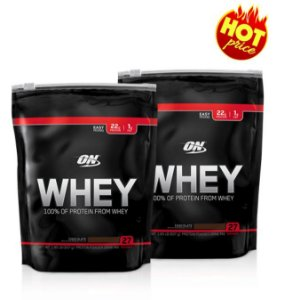 Combo 02 ON Whey Refil 837g 27 doses  Optimum Nutrition
