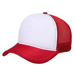 Bone trucker vermelho e branco