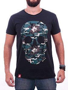 Camiseta Caveira Camuflada Adrenalina