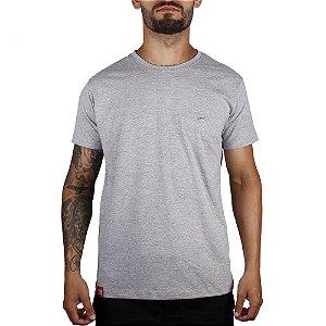 Camiseta Básica Adrenalina - Cinza Mescla