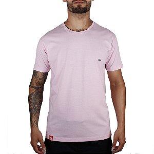 Camiseta Básica Adrenalina - Rosa Bebê